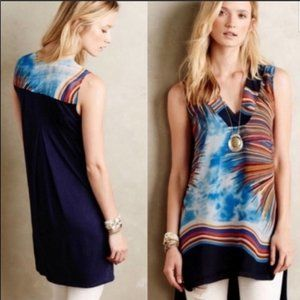 Anthropologie TINY Shoreline Colorburst Tunic Top